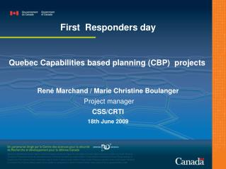 Quebec Capabilities based planning (CBP)  projects