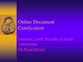Online Document Certification