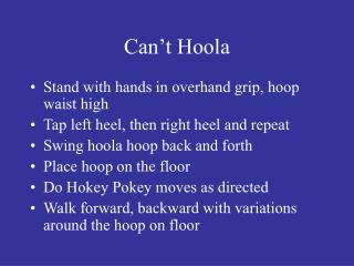 Can't Hoola
