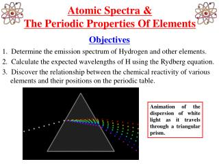 Atomic Spectra & The Periodic Properties Of Elements