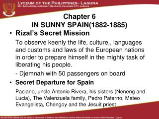 Chapter 6 IN SUNNY SPAIN(1882-1885)