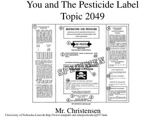 You and The Pesticide Label Topic 2049