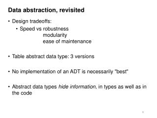 Data abstraction, revisited