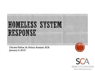 Regional Community Response to Homelessness
