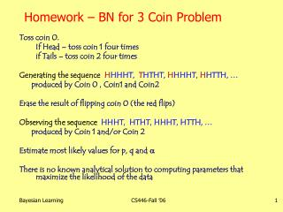 Homework – BN for 3 Coin Problem