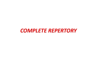 KENT S REPERTORY OF HOMOEOPATHIC MATERIA MEDICA