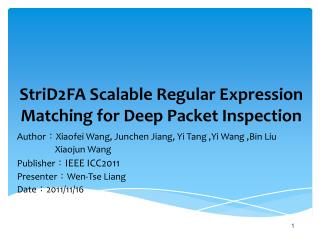 StriD2FA Scalable Regular Expression Matching for Deep Packet Inspection