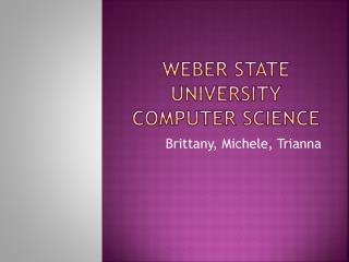 Weber State University Computer Science