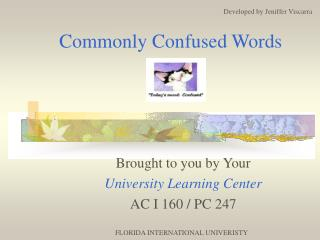 Commonly Confused Words