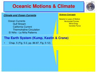 Oceanic Motions & Climate
