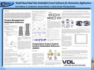 Model-Based Real-Time Embedded Control Software for Automotive Applications