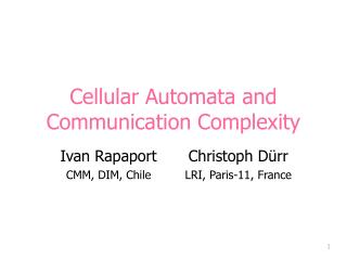 Cellular Automata and Communication Complexity