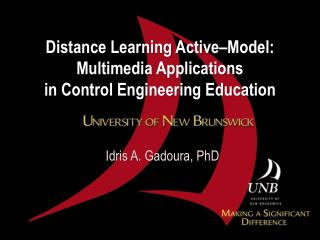 Distance Learning Active–Model:  Multimedia Applications  in Control Engineering Education