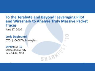 To the Terabyte and Beyond! Leveraging Pilot and Wireshark to Analyze Truly Massive Packet Traces