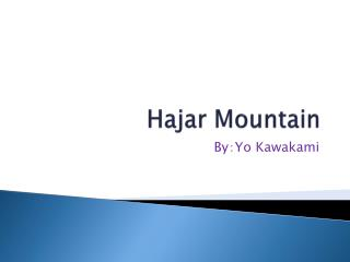 Hajar Mountain
