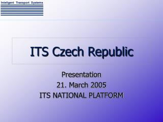 ITS Czech Republic