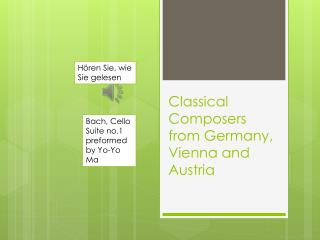 Classical Composers from Germany, Vienna and Austria