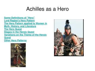 Achilles as a Hero