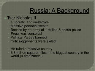 Russia: A Background