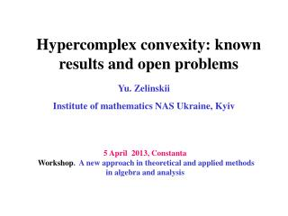 Hypercomplex convexity: known results and open problems