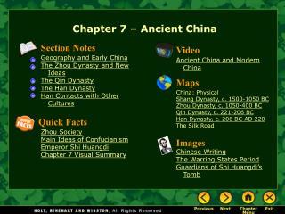 Chapter 7 – Ancient China