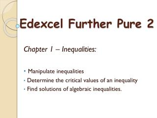 Edexcel Further Pure 2