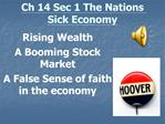 Ch 14 Sec 1 The Nations Sick Economy