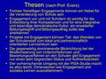 Thesen nach Prof. Evers: