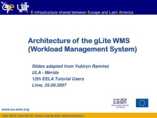 Architecture of the gLite WMS (Workload Management System)