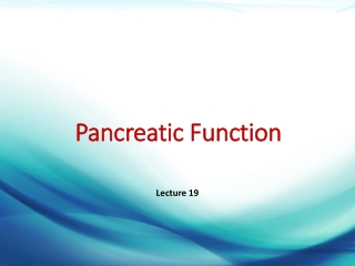 Disorders of the Pancreas
