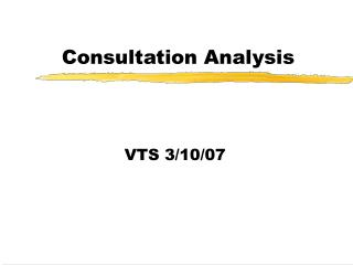 Consultation Analysis