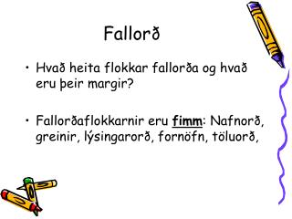 Fallorð