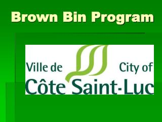 Brown Bin Program