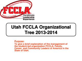 Utah FCCLA Organizational Tree 2013-2014