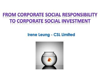 Irene Leung - CSL Limited