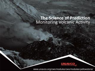 The Science of Prediction Monitoring Volcanic Activity