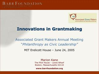 Innovations in Grantmaking