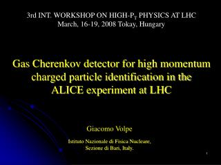Gas Cherenkov detector for high momentum charged particle identification in the