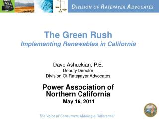 The Green Rush Implementing Renewables in California