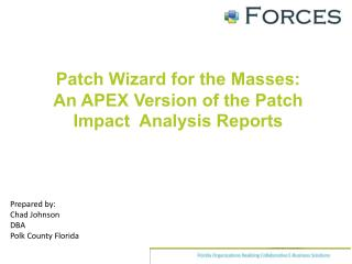 Patch Wizard for the Masses:  An  APEX Version of the Patch Impact  Analysis Reports