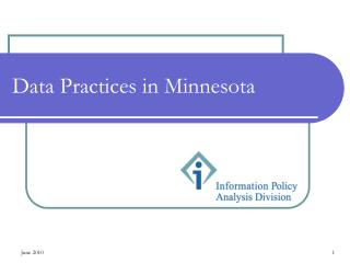 Data Practices in Minnesota