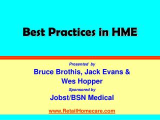 Best Practices in HME