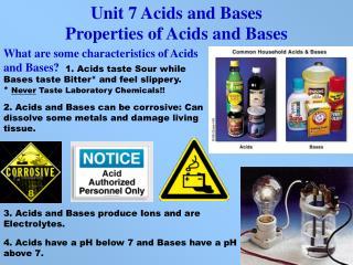 Unit 7 Acids and Bases