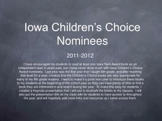Iowa Children's Choice Nominees