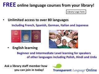 FREE online language courses from your library!