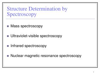 Structure Determination by Spectroscopy