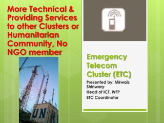 Emergency Telecom Cluster (ETC)
