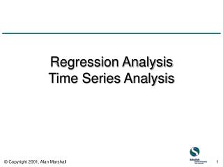 Regression Analysis Time Series Analysis
