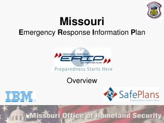 Missouri E mergency  R esponse  I nformation  P lan