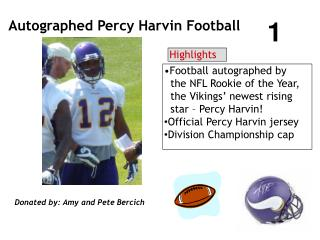 Autographed Percy Harvin Football